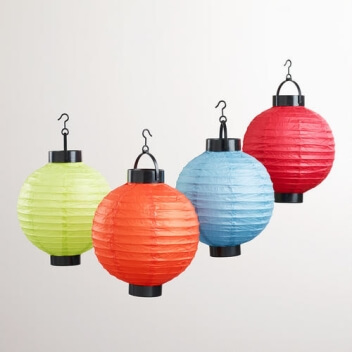 Colorful Hanging Outdoor Lamps